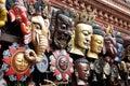 Traditional Wooden Masks, Kathmandu, Nepal Royalty Free Stock Photo