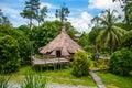 Traditional wooden Melanau houses. Kuching Sarawak Culture village. Malaysia Royalty Free Stock Photo