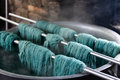 Traditional wool dyeing Royalty Free Stock Photo