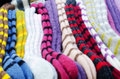 Traditional woollen sox in the handicraft mart Royalty Free Stock Photography