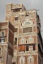 Traditional Yemeni buildings Royalty Free Stock Image