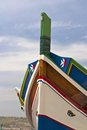 Traditionally painted boat malta traditional style Stock Image