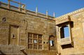 Traditionele Hindoese architectuur van Jaisalmer-fort, India Royalty-vrije Stock Afbeelding
