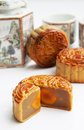 Traditionele Mooncake Royalty-vrije Stock Afbeeldingen