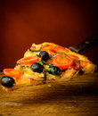 Traditionell hemlagad pizza Royaltyfria Bilder