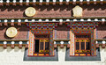Traditionelle tibetanische Architektur Stockfoto