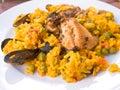 Traditionnal spanish food paella Royalty Free Stock Photo