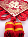 Traditonal chinese wedding suspending  tassel Royalty Free Stock Photo