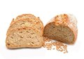 Tradtional homemade bread on white background Royalty Free Stock Photography