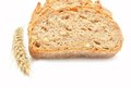 Tradtional homemade bread on white background Royalty Free Stock Photo