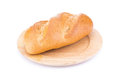 Tradtional homemade bread on white background Stock Photography