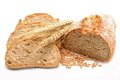 Tradtional homemade bread on white background in studio Stock Photo