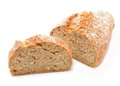 Tradtional homemade bread on white background in studio Royalty Free Stock Photo
