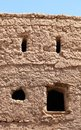 Tradtional omani mud brick house remains of old style crick houses in nizwa oman Stock Photos