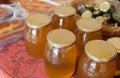 Tradtional wares of honey stand with in la alcarria guadalajara spain Stock Image