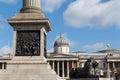 Trafalgar londres quadrada Imagens de Stock Royalty Free