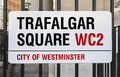 Trafalgar square sign in london a for Royalty Free Stock Photos