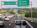 Traffic autostrada italy on italian highway motorway near rome lazio Stock Photos