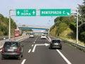 Traffic autostrada italy on italian highway motorway near rome in lazio Stock Image