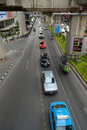 Traffic in bangkok normal thailand blurred motion Royalty Free Stock Photos