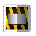 Traffic barrier with metallic plate Royalty Free Stock Photo