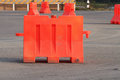 Traffic barrier portable on the road Stock Photography
