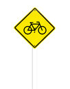 Traffic bicycle sign on white background Royalty Free Stock Photography