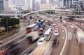 Traffic blur motions in city Royalty Free Stock Photo