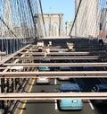 Traffic on Brooklyn Bridge Royalty Free Stock Images