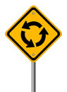 Traffic circle vector road sign Royalty Free Stock Photos