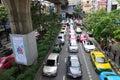 Traffic condition in Bangkok
