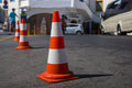 The traffic cone. Royalty Free Stock Photo