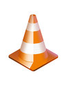 Traffic cone an isolated orange Royalty Free Stock Photos