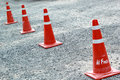 Traffic cone on the road Royalty Free Stock Photography