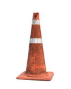 Traffic cone rubber isolated on white background Royalty Free Stock Image
