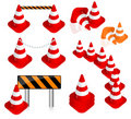 Traffic cone set Stock Photos