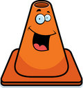 Traffic Cone Smiling Stock Photo