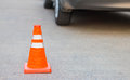 Traffic cone for traffic safety. Royalty Free Stock Photo