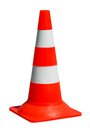 Traffic cone on white background Royalty Free Stock Photo