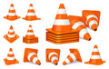 Traffic cones icon Royalty Free Stock Photo
