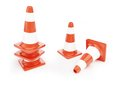 Traffic cones road construction on a white background Royalty Free Stock Photos