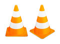 Traffic cones on white background Stock Photos