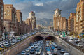 Traffic Congestion in Tohid Tunnel of Tehran Royalty Free Stock Photo