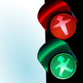 Traffic control signal, little man Stock Photography