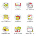 Traffic Conversion Seo Marketing Ad Campaign Optimization Data Management Icon Set