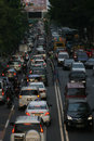Traffic density in the afternoon in the city of solo central java indonesia Royalty Free Stock Image