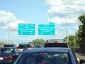 Traffic Entering New York Royalty Free Stock Photo