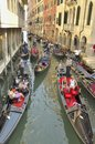 Traffic of gondolas Royalty Free Stock Photo