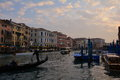 Traffic on the grande canal venice italy amazing city of draws millions of visitors yearly to its famous rialto bridge to its Royalty Free Stock Photography