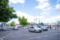 Traffic in Hobart city Royalty Free Stock Photo